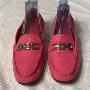 NWOT Talbots Pink Flat Loafers Size 7.1/2 B